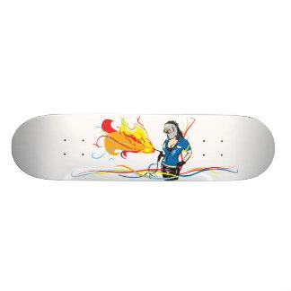 Mulher do soldador skates