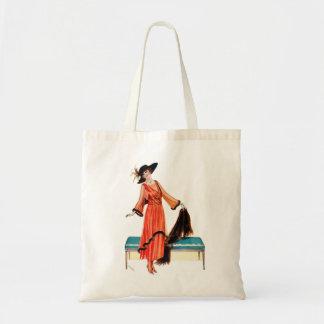Mulher do Victorian de Edwardian das mulheres do Sacola Tote Budget