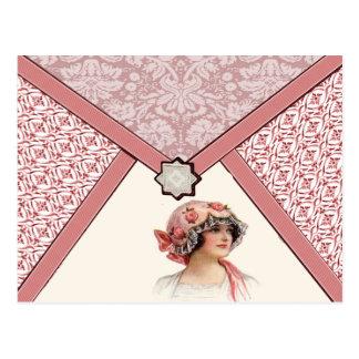 Mulher do vintage cartão postal