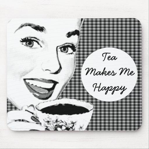 mulher dos anos 50 com um Teacup V3 Mousepads