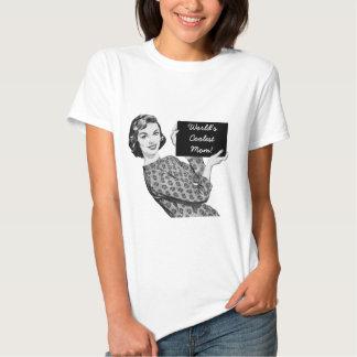 mulher dos anos 50 com uma mamã do sinal camisetas
