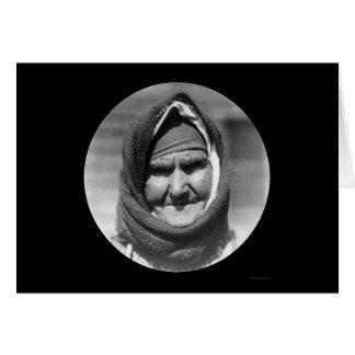 Mulher grega idosa 1923 cartões