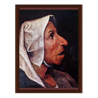 Mulher idosa do camponês por Bruegel D. Ä. Pieter Cartão Postal