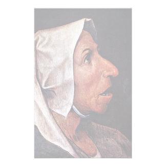 Mulher idosa do camponês por Bruegel D. Ä. Pieter Papel Personalizado