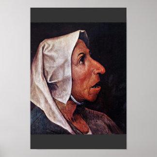 Mulher idosa do camponês por Bruegel D. Ä. Pieter Poster