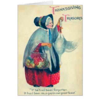 Mulher idosa do peregrino cartão comemorativo