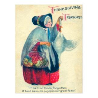 Mulher idosa do peregrino cartoes postais