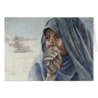 Mulher idosa do Tuareg, Timbuktu Cartão