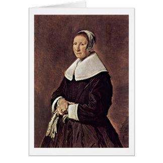 Mulher idosa pelo colaborador de Frans Hals Cartões