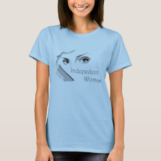 Mulher independente - camisa da arma