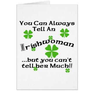 Mulher irlandesa - você pode sempre dizer… cartão comemorativo