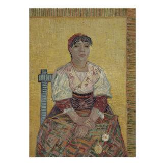 Mulher italiana por Vincent van Gogh Convites Personalizados
