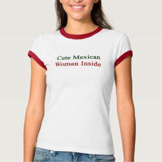Mulher mexicana bonito para dentro t-shirts