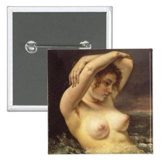 Mulher nas ondas bóton quadrado 5.08cm