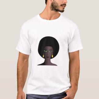 Mulher negra com olhos verdes camiseta