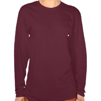 Mulher negra, T marrom verdadeiro da estada T-shirt
