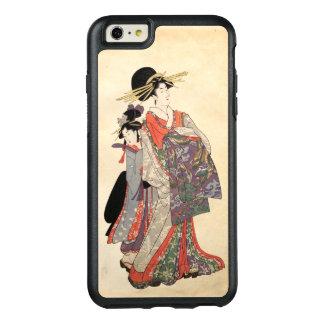 Mulher no quimono colorido (impressão do japonês