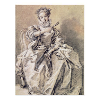 Mulher no traje espanhol cartão postal