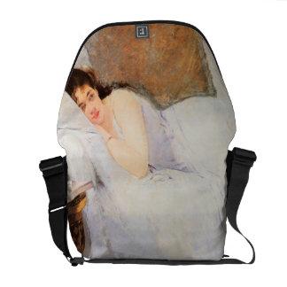 Mulher que desperta, 1876 (óleo em canvas) bolsa mensageiro