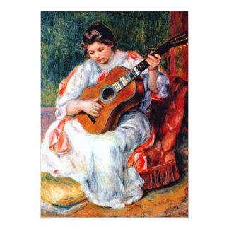 Mulher que joga a guitarra por Renoir, arte do Convites Personalizados