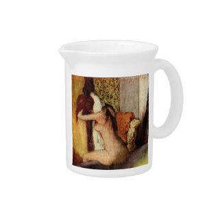 Mulher que seca seu pescoço por Edgar Degas Jarros