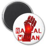 Mulher radical imãs de geladeira
