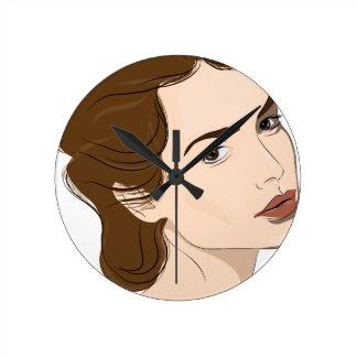 mulher relógio redondo