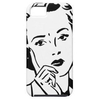 Mulher retro dos anos 50 dos desenhos animados capa para iPhone 5