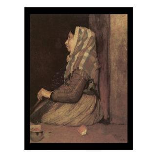 Mulher romana do mendigo de Edgar Degas Cartoes Postais