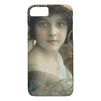 Mulher romântica do vintage capa iPhone 7