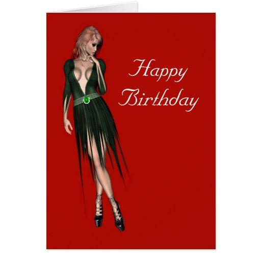 Mulher sensual bonita à moda cartão