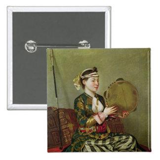 Mulher turca com um pandeiro boton