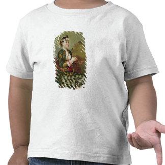 Mulher turca com um pandeiro t-shirt