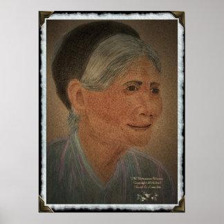 """Mulher vietnamiana idosa "" Poster"