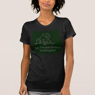 mulheres adotadas da luva do short do preto do camisetas