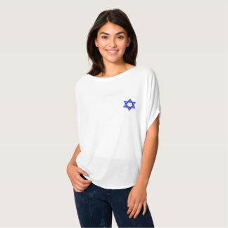 Mulheres azuis da estrela de David Camiseta