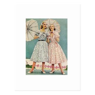 mulheres bonito dos anos 50 cartão postal