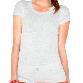 Mulheres brancas & T preto do vintage com assinatu T-shirts