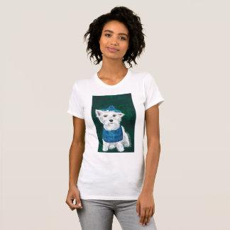 Mulheres da camisa de Westie T pequenas