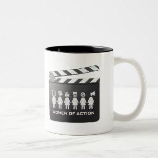 MULHERES da caneca de café da AÇÃO