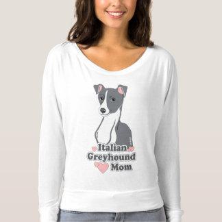 Mulheres da mamã do galgo italiano fora da camisa