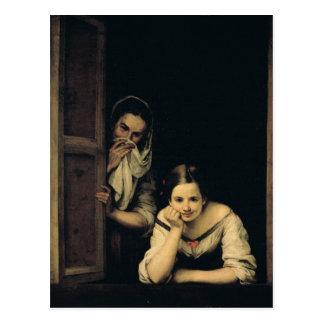Mulheres de Galiza na janela, 1670 Cartão Postal