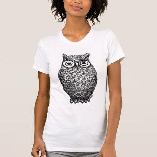 Mulheres do design da coruja superiores camiseta