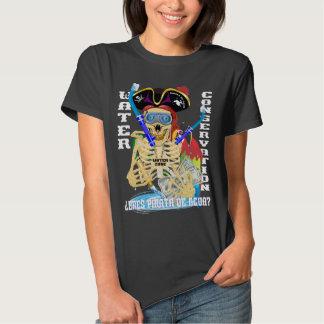 MULHERES do espanhol de Pirata da água de Camiseta