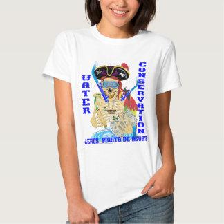 MULHERES do espanhol de Pirata da água de Camisetas