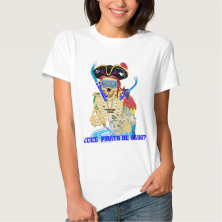 MULHERES do espanhol de Pirata da água de T-shirt