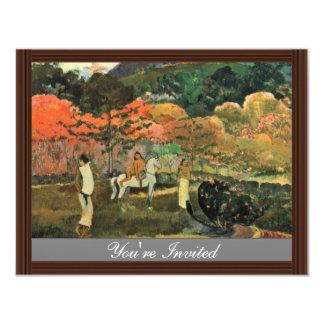 Mulheres e molde por Paul Gauguin (a melhor Convite 10.79 X 13.97cm