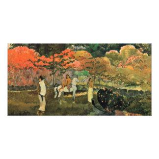 Mulheres e molde por Paul Gauguin a melhor qualid Cartao Com Fotos Personalizado