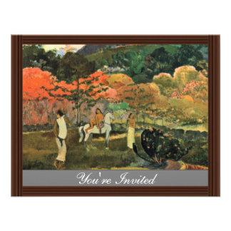 Mulheres e molde por Paul Gauguin a melhor qualid Convite
