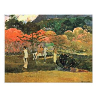Mulheres e molde por Paul Gauguin a melhor qualid Convites Personalizados